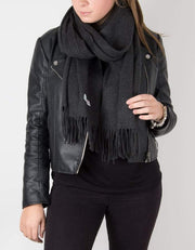 Dark Grey Blanket Scarf