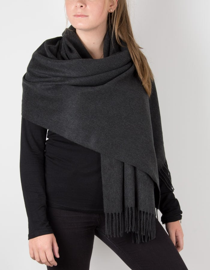 Charcoal Winter Pashmina