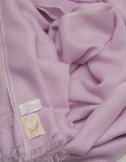 an image showing a Lilac Pure Cashmere Pashmina Scarf