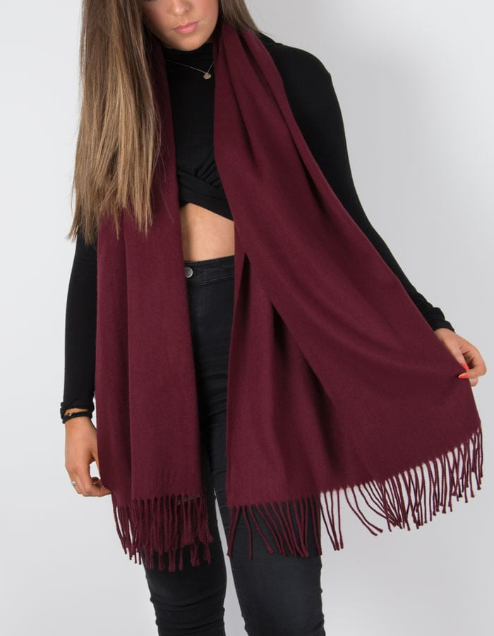 an image showing a winter pashmina in mulberry