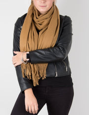 an image showing a winter pashmina in camel