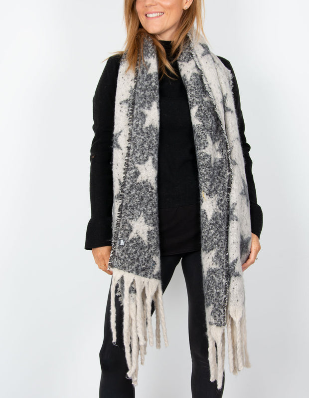 an image showing a blanket scarf with stars