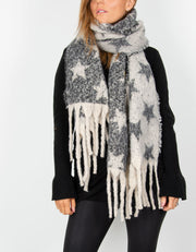 Star Blanket Scarf - Long Tassel