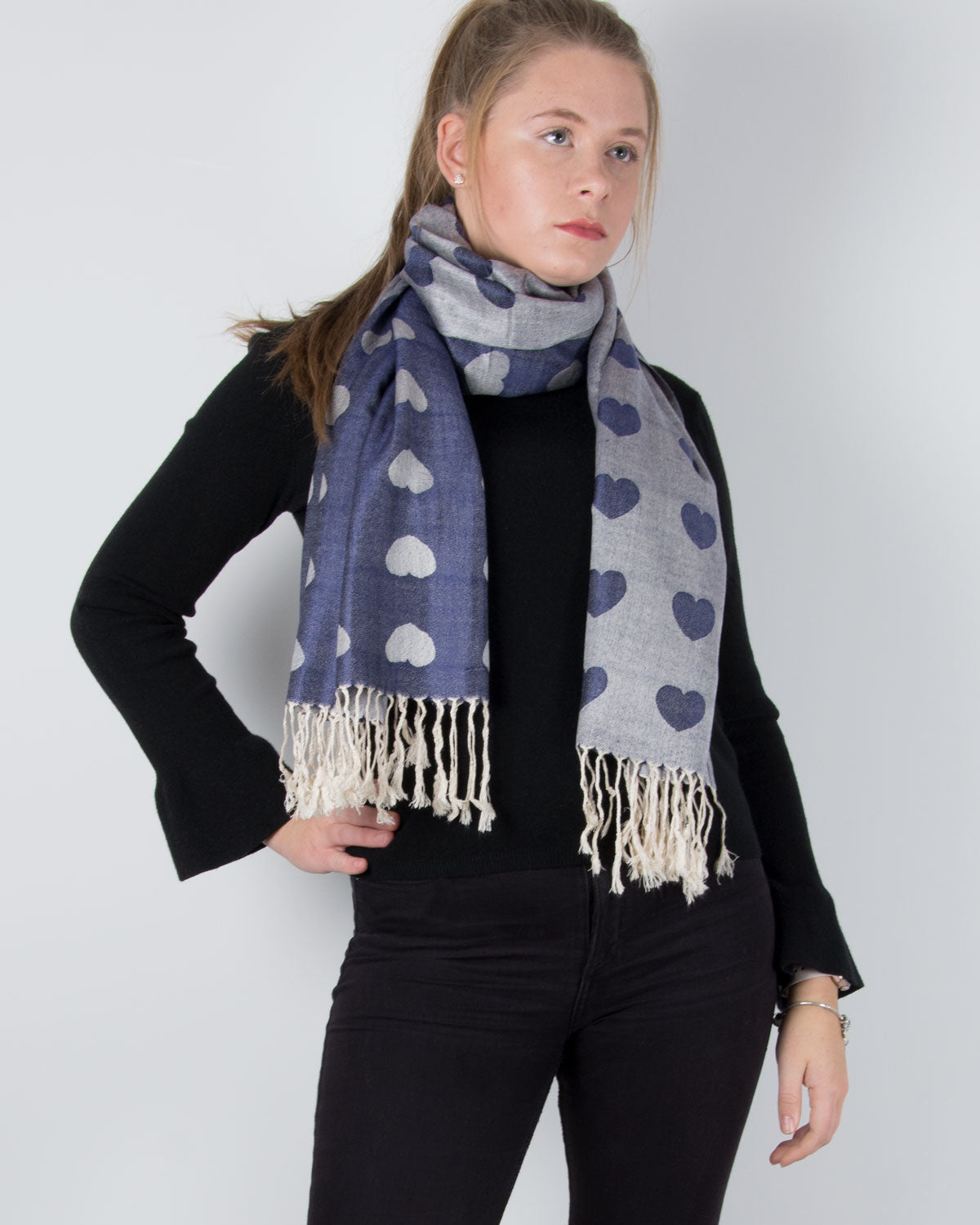 an image showing a heart print pashmina