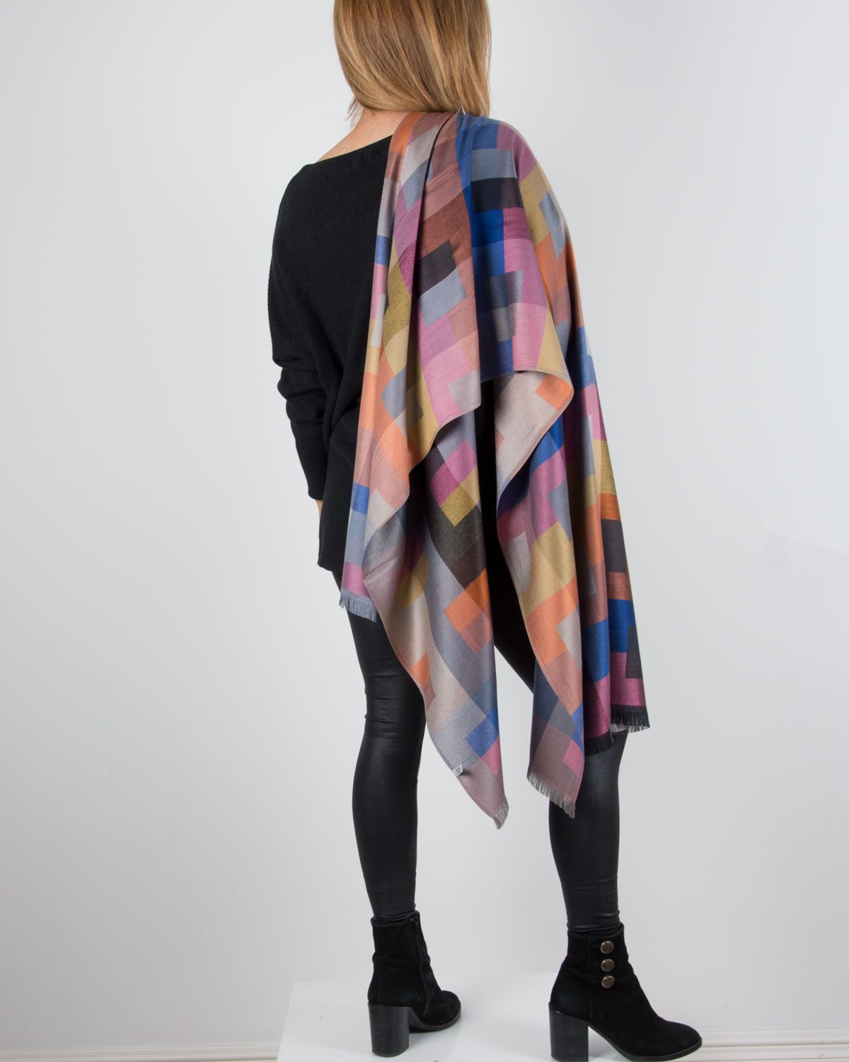 an image showing a geometric print pashmina