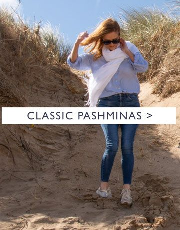 an image showing a white classic pashmina