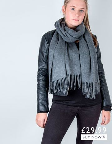 an image showing a grey winter pashmina