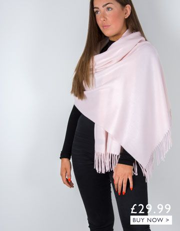 an image showing a pink winter pashmina