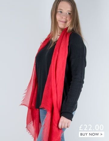 an image showing a red scarf