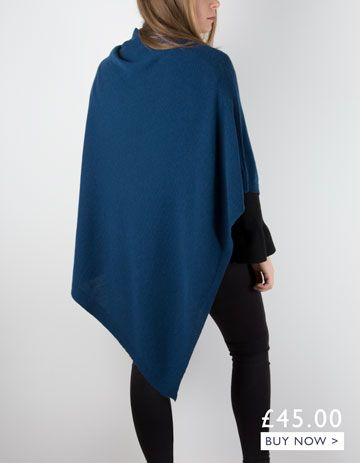 an image showing a teal poncho