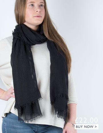 an image showing a black scarf