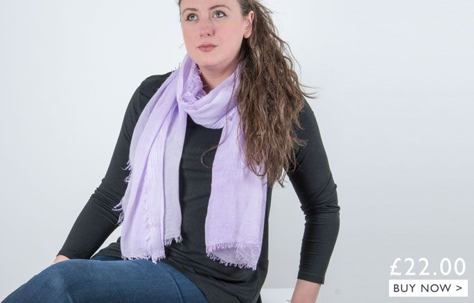 an image showing a lilac scarf