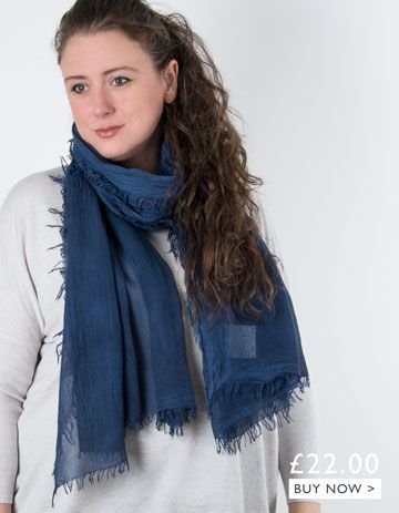 an image showing a navy scarf