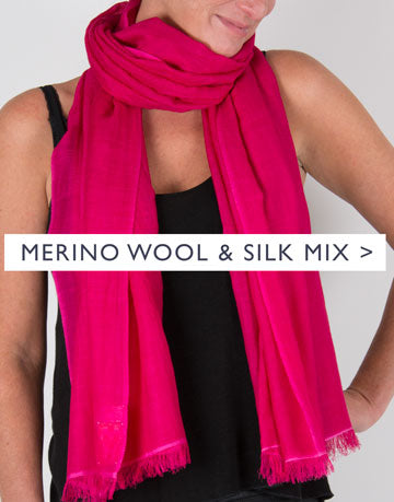 an image showing a merino silk mix scarf