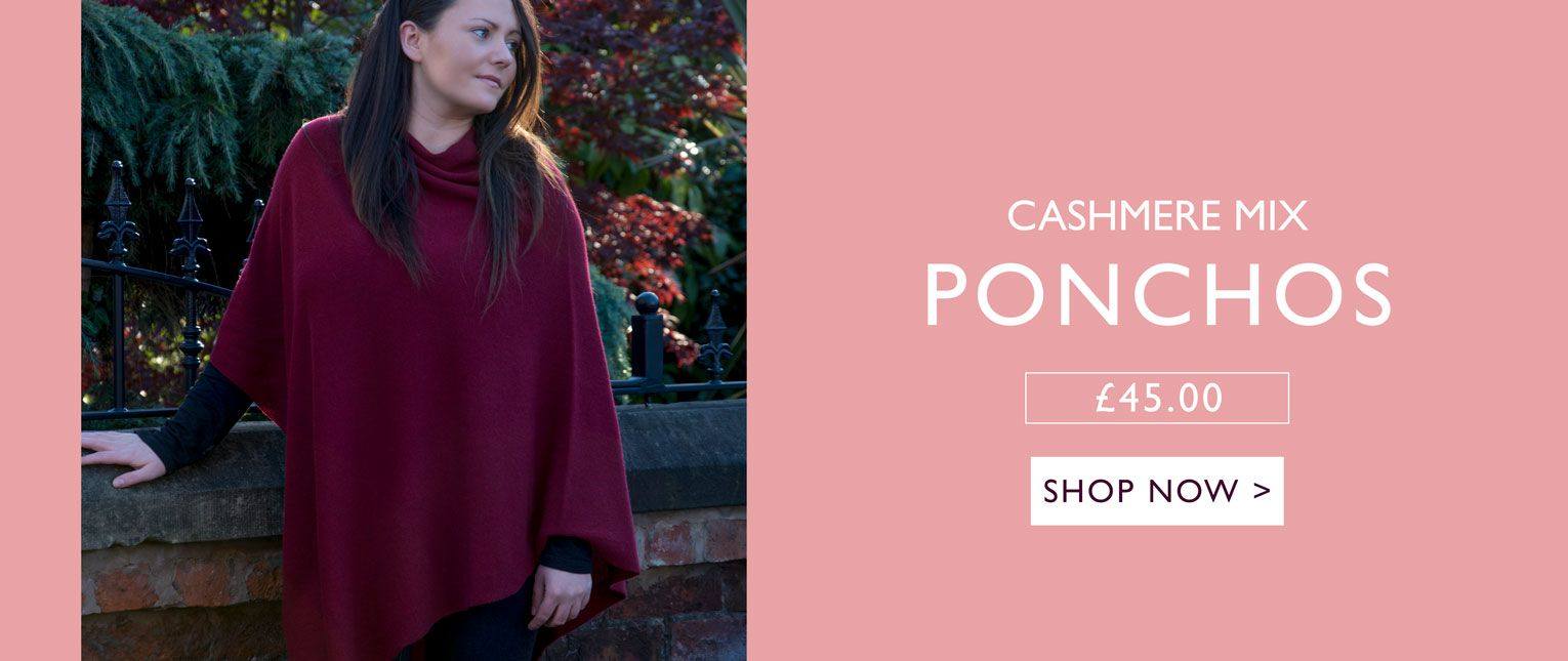 an image showing a cashmere mix poncho