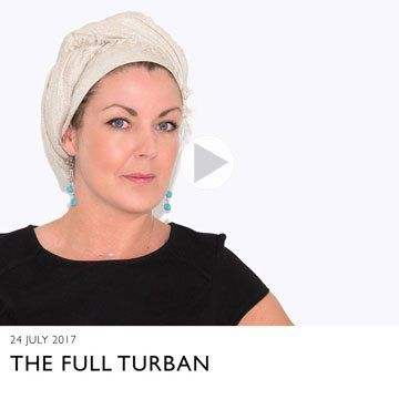 a video showing how to tie a head scarf