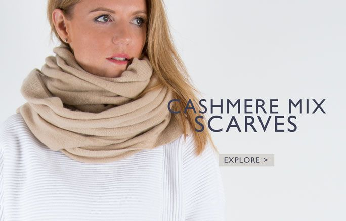 an image showing a cashmere mix scarf
