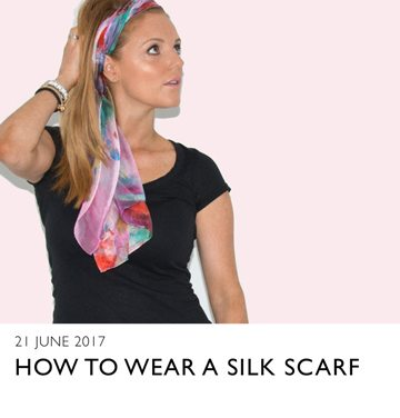 an image showing a silk scarf