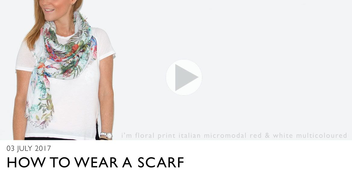 a video showing how to tie a scarf