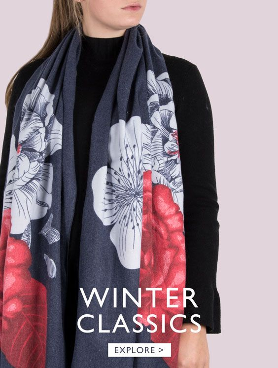 An image showing a classic winter scarf