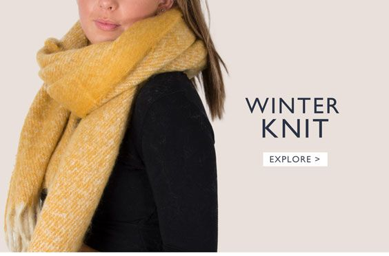 an image showing a winter knit scarf
