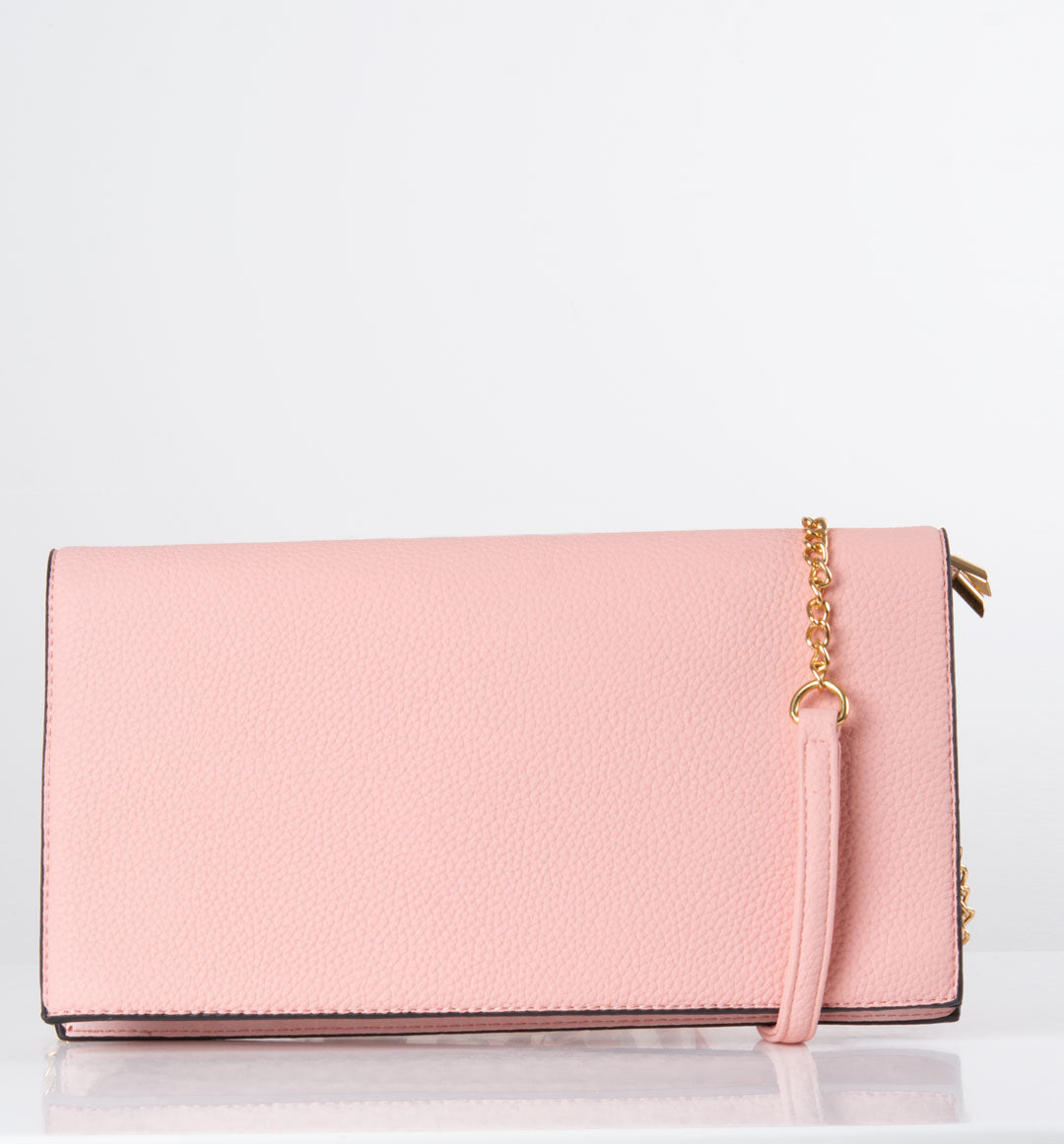 an image showing a pink shoulder bag