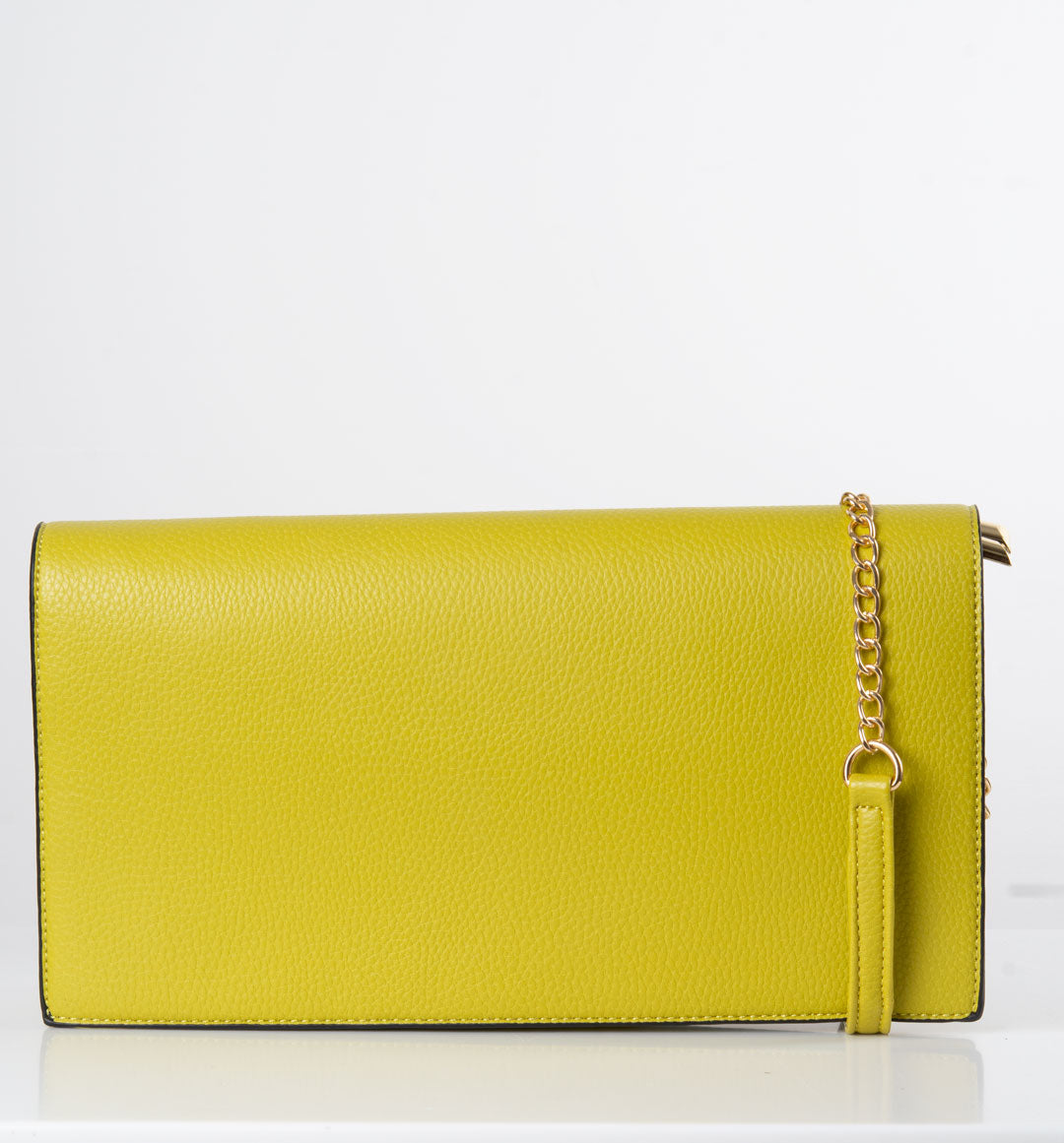 an image showing a lime green shoulder bag