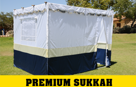 Supreme 8 foot Multi Color Easy Lock Sukkah Without Scach