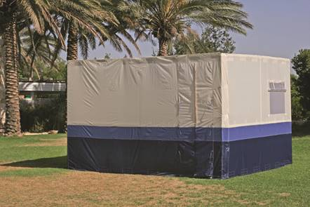 Royal Multi Color Easy Lock Sukkah With Scach