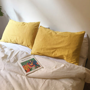 Duvet cover in Ambar