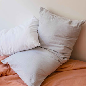 Pillow slips set ~ Cloudy grey