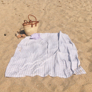 The Vichy linen beach blanket