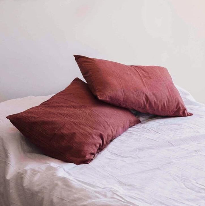 Pillow slips set ~ Burgundy