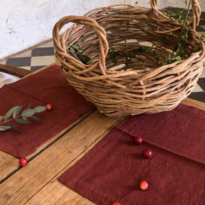 Placemat set ~ Burgundy