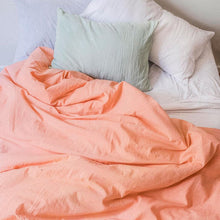 Load image into Gallery viewer, Duvet cover in Salmon
