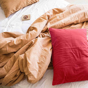 Duvet cover in Nut