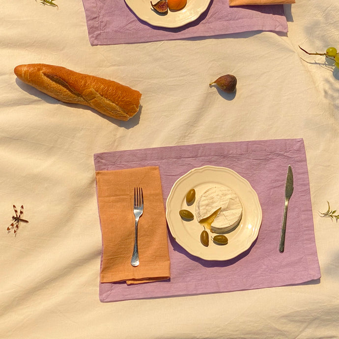 Napkin set in Nut