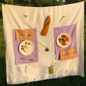 Placemat set in Lilac