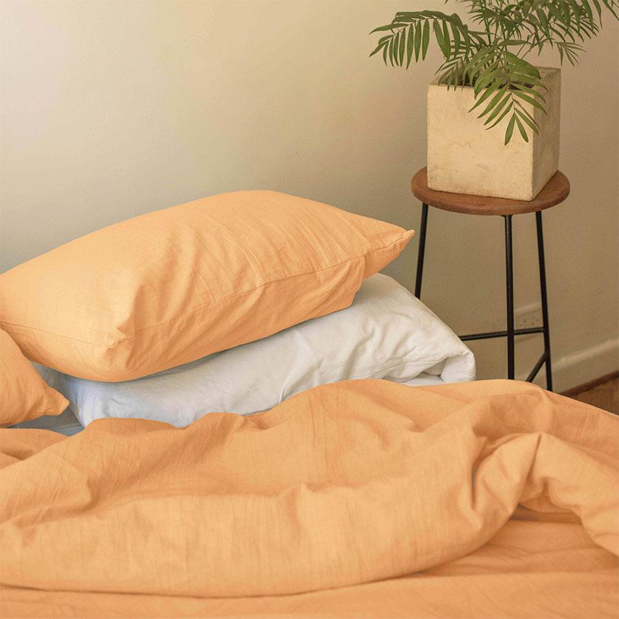 Duvet cover in Grapefruit