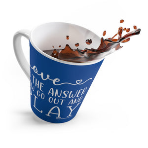 Love Is The Answer Latte mug