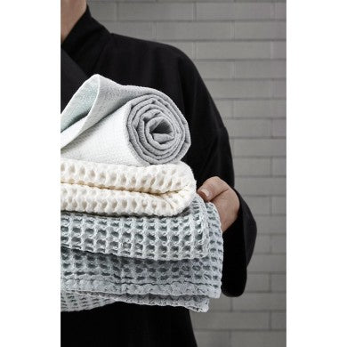 Big Waffle Towel And Blanket - White, 100X150 cm