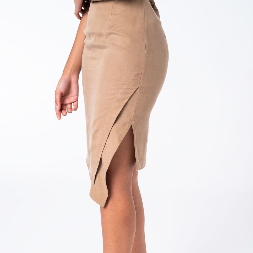 Caramel Tencel Skirt
