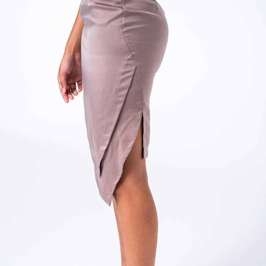 Champagne Silk Skirt