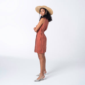 Terracotta Wrap Dress
