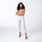 Cream Linen Trousers