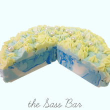 Load image into Gallery viewer, Ocean Breeze Cake Slice Soap