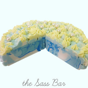 Ocean Breeze Cake Slice Soap