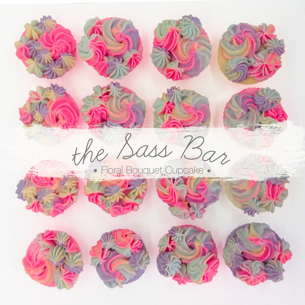 Floral Bouquet Cupcake Soap