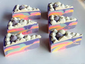 Lavendar Dreams Cake Slice Soap