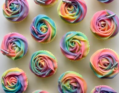 Rainbow Rose Cupcake Soap